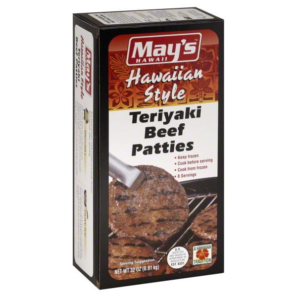 Mays Hawaii Mays 2lb Teriaki Beef Paties