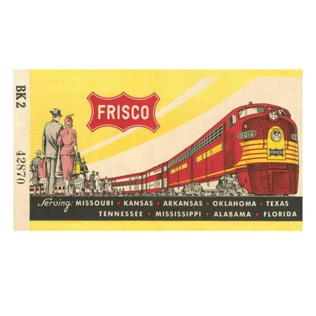 Frisco Railroad (Frisco Train Ticket Print Wall Art)