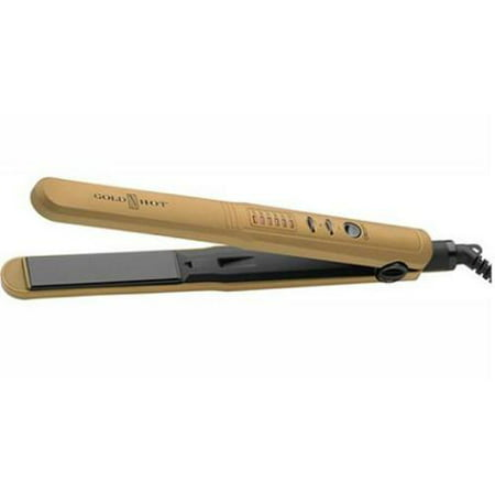 Belson Products Gh3006 Gold N Hot 1 Ceramic Led Flat Iron