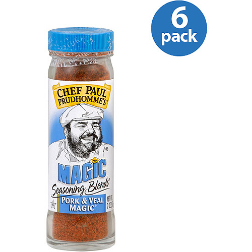 Chef Paul Prudhomme's Pork & Veal Magic Seasoning Blends, 2 oz, (Pack of 6)