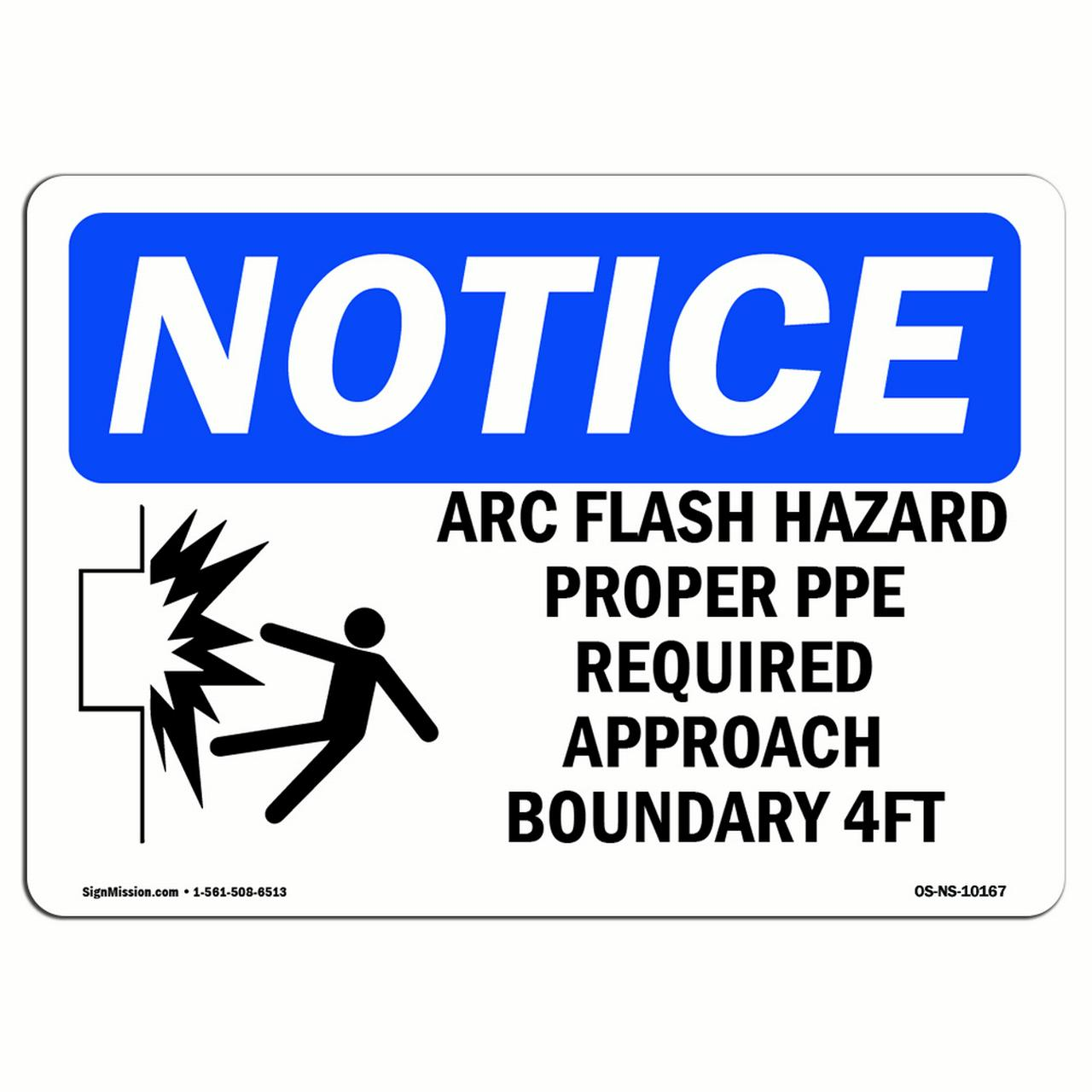 OSHA Danger Sign Arc Flash Hazard ProperHeavy Duty Sign or Label