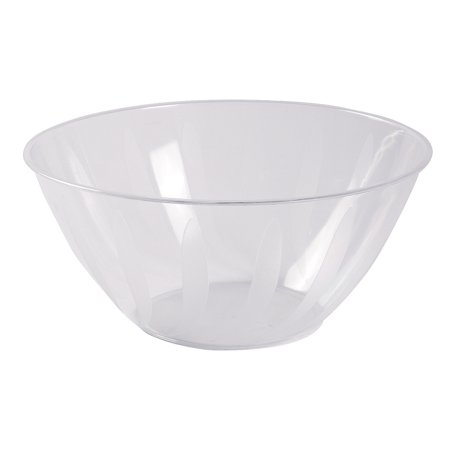 Fun Express - Clear Plastic Serving Bowl 5 Qts. for Wedding - Party Supplies - Serveware & Barware - Serving Bowls - Wedding - 1 Piece](Large Plastic Serving Bowl)