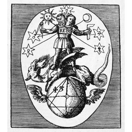 - Alchemy Hermaphroditus Nthe Male-Female Principle Of Alchemic Transmutation Straddling The Winged Globe Of Chaos Woodcut From Heinrich JamsthalerS Viatorium Spagyricum Frankfurt Germany 1625 Rolled Ca