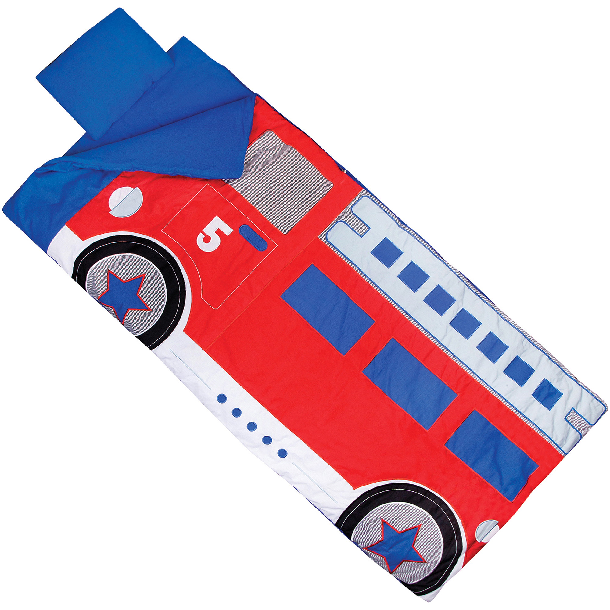 Wildkin Kids' Fire Truck Sleeping Bag