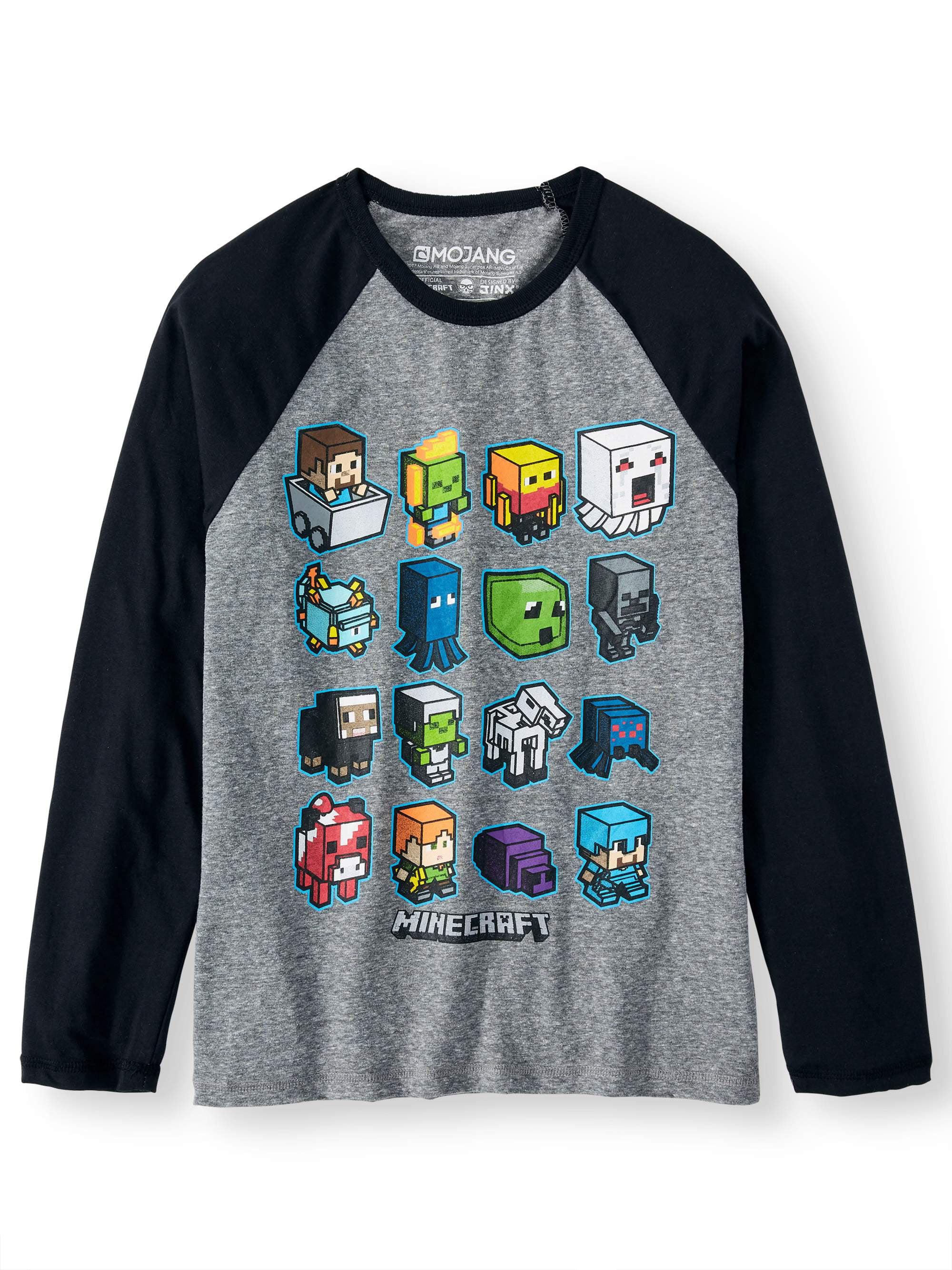 "Boys Minecraft ""Mini Mobs Iron"" Long Sleeved Licensed Tee (Little Boys & Big Boys)"