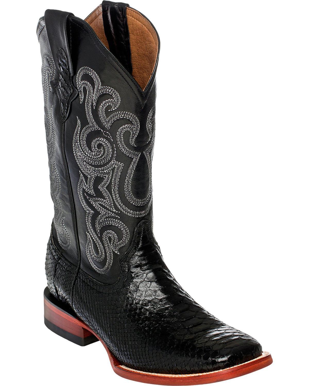 Ferrini Men's Python Cowboy Boot Square Toe 1069309 by Ferrini
