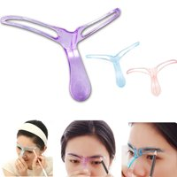 5Pc Pro Eyebrow Shaper Template Stencil Shaping Brow Grooming Makeup Tool DIY US