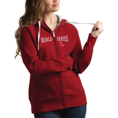 Boston Red Sox Antigua Women's 2018 World Series Bound Victory Hoodie - - Sox Womens Jackets