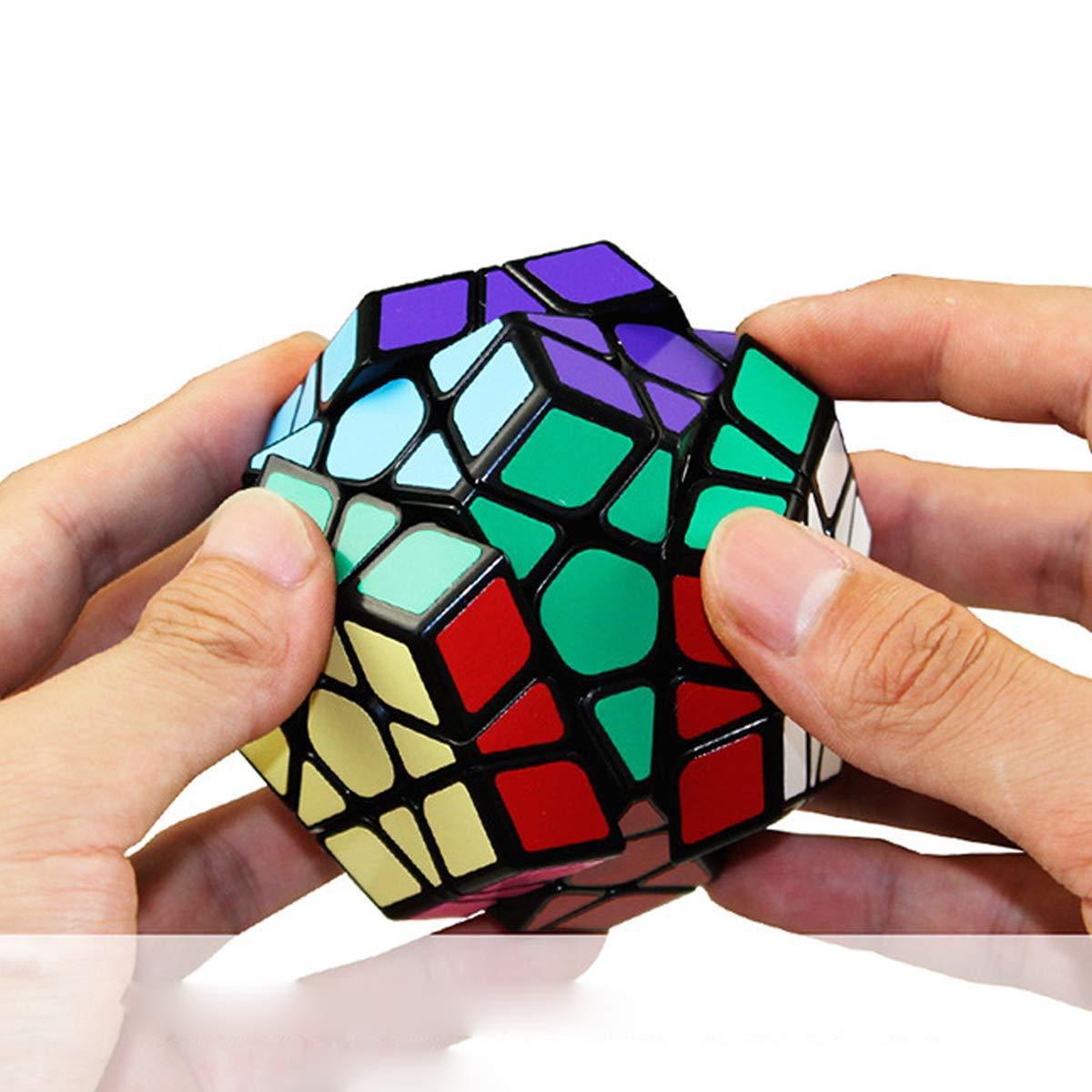 5 St/ück Speed Cube Set 2x2 3x3 Pyraminx Megaminx Mirror SpeedCube 3D Puzzle Magic Cubes f/ür Kinder Erwachsene Anf/änger Coolzon Zauberw/ürfel Set