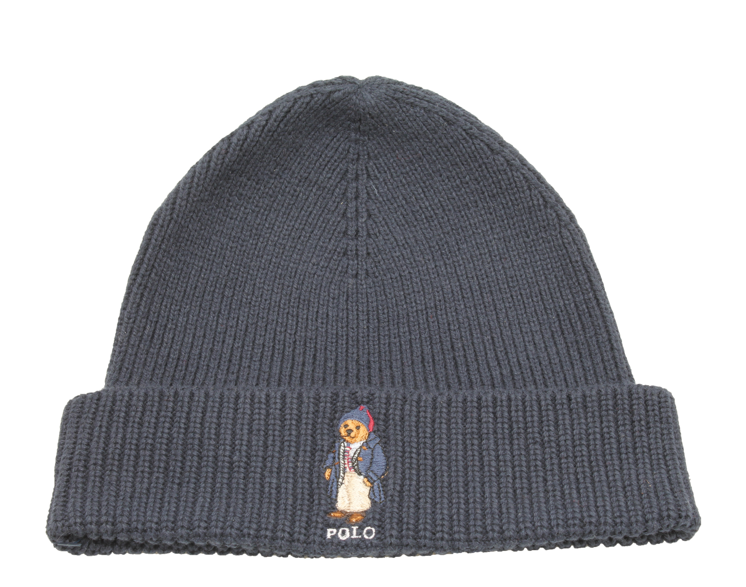 1df7f1d455d Polo Ralph Lauren - Polo Ralph Lauren Polo Bear Knit Navy Business Man  Scully Beanie Hat PC0111-434 - Walmart.com