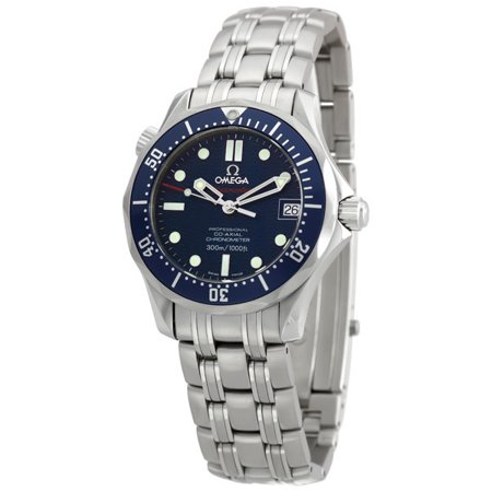 Pre-owned Omega Seamaster James Bond Automatic Chronometer Blue Dial Men's Watch