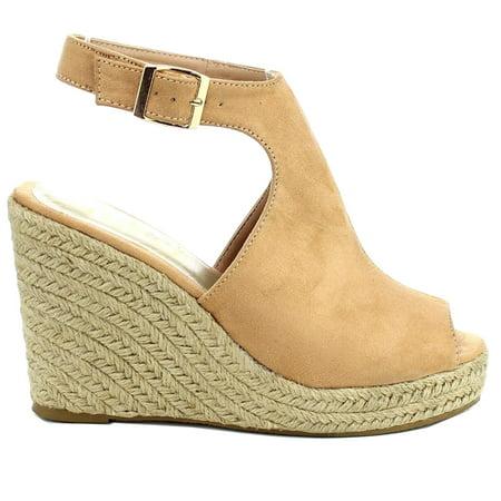 ea6533bf345 SNJ - Women s Fashion High Heel Platform Espadrilles Wedge Ankle Strap Open  Toe Sandal (FREE SHIPPING) - Walmart.com