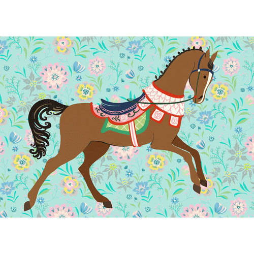 Oopsy Daisy - Floral Filly - Bay Canvas Wall Art 14x10, Pim Pimlada
