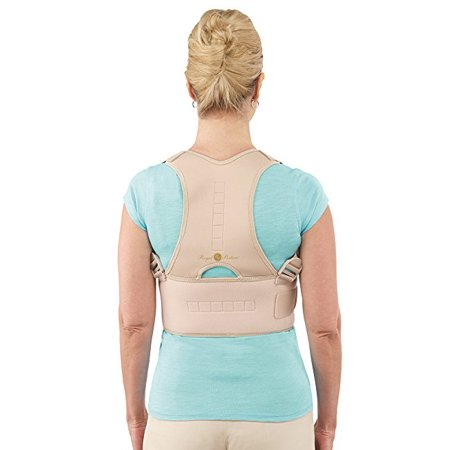 Back Brace Posture Corrector | Best Fully Adjustable Support Brace | Improves Posture and Provides Lumbar Support | for Lower and Upper Back Pain | Men and