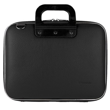 Leather Netbook Case - Cady Universal Tablet, eReader, Netbook, Laptop Hard Faux Leather Carrying / Shoulder Suit Case fits 13, 13.3, 14, 14.1 inch