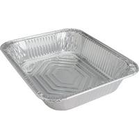 Genuine Joe Half-size Disposable Aluminum Pan, Silver, 100 / Carton (Quantity)