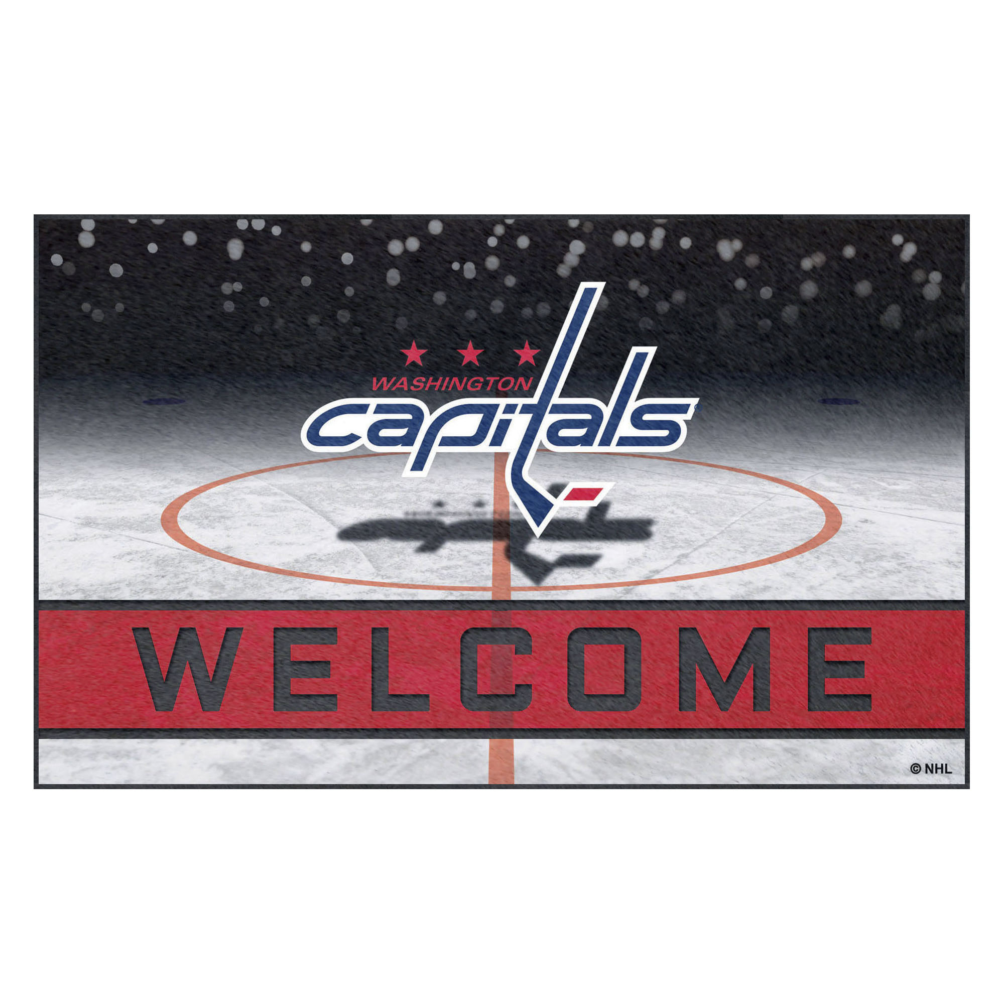 NHL Washington Capitals Heavy Duty Crumb Rubber Door Mat