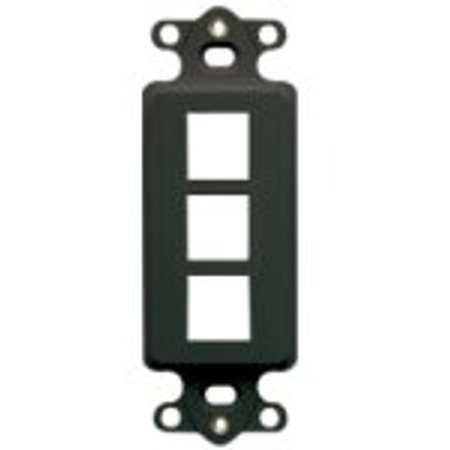 Decorex Faceplate Insert IC107DI3BK, FTYPE IC107E5CBL DECOREX IC107DR4WH Port Black Insert Ic107dfdwh Plated Bezel Decorex Gang RGBVGA 3GHZ Cat5 Gold FType RGB.., By ICC Ship from US