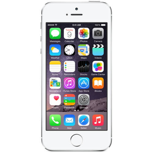 Apple iPhone 5s 16GB Unlocked GSM 4G LTE Dual-Core Phone w  8MP Camera Silver (Refurbished) by Apple
