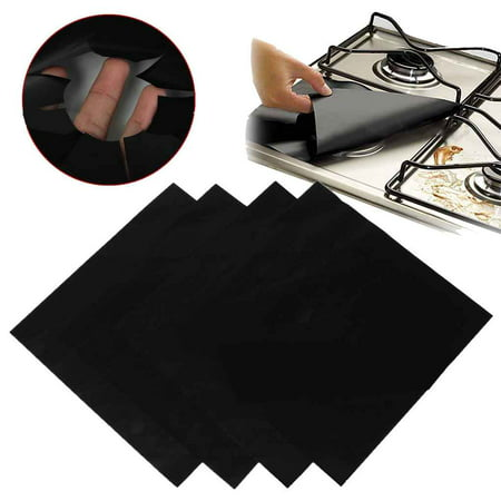 4PCS Gas Stove Protectors Covers Pads Non-stick Reusable Gas Stove Burner Liners Covers Stove Top Protector for Kitchen