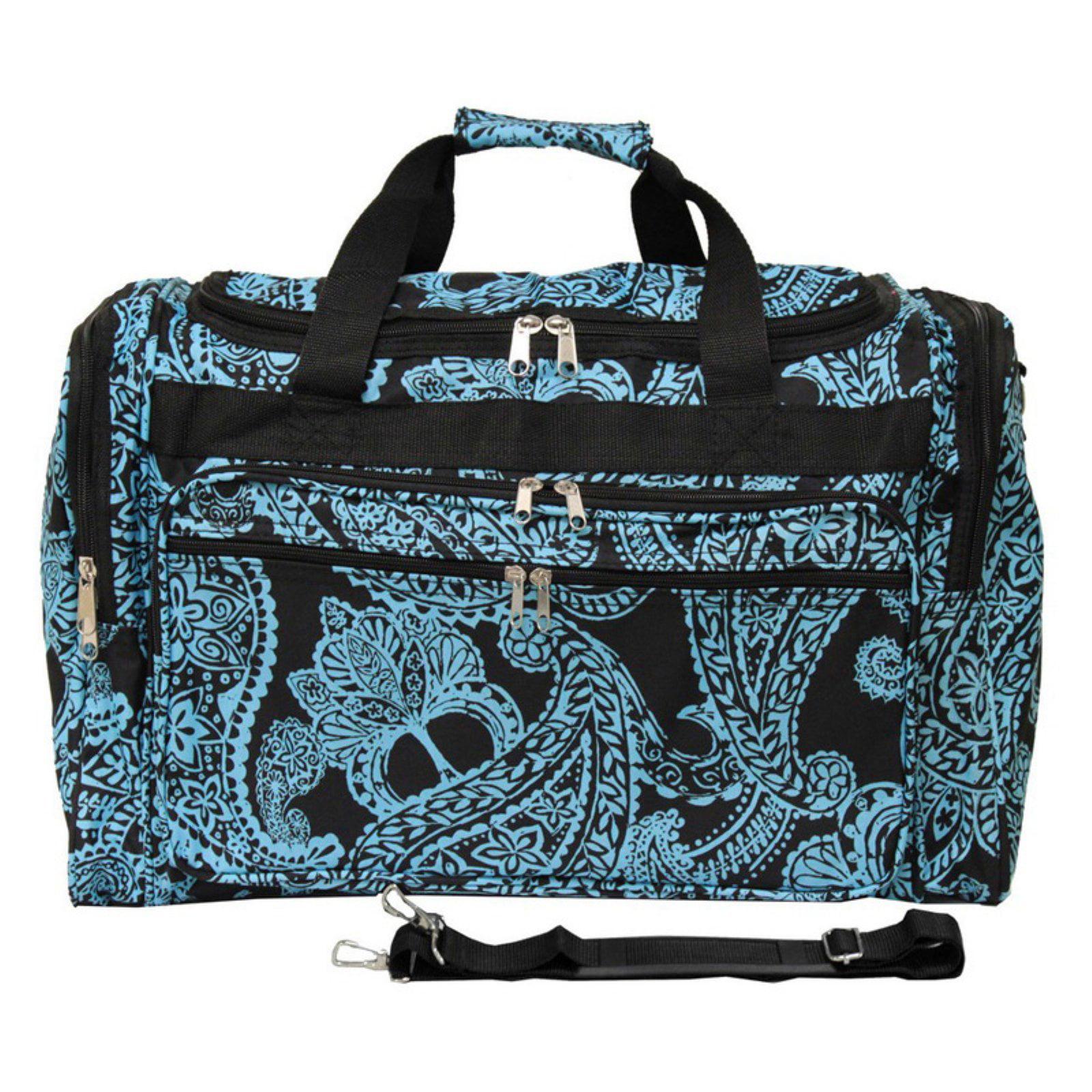 World Traveler Paisley 22 in. Travel Duffel Bag by World Traveler