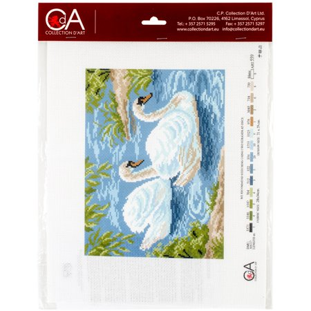 Collection D'art Stamped Cross Stitch Kit 28X34cm-Tundra - Swan Needlepoint