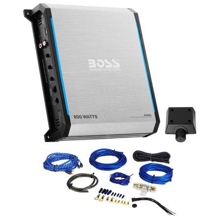 Boss Elite BA800 800 Watt 2-Channel Amplifier Class A/B Car Audio Amp+Wire Kit ()