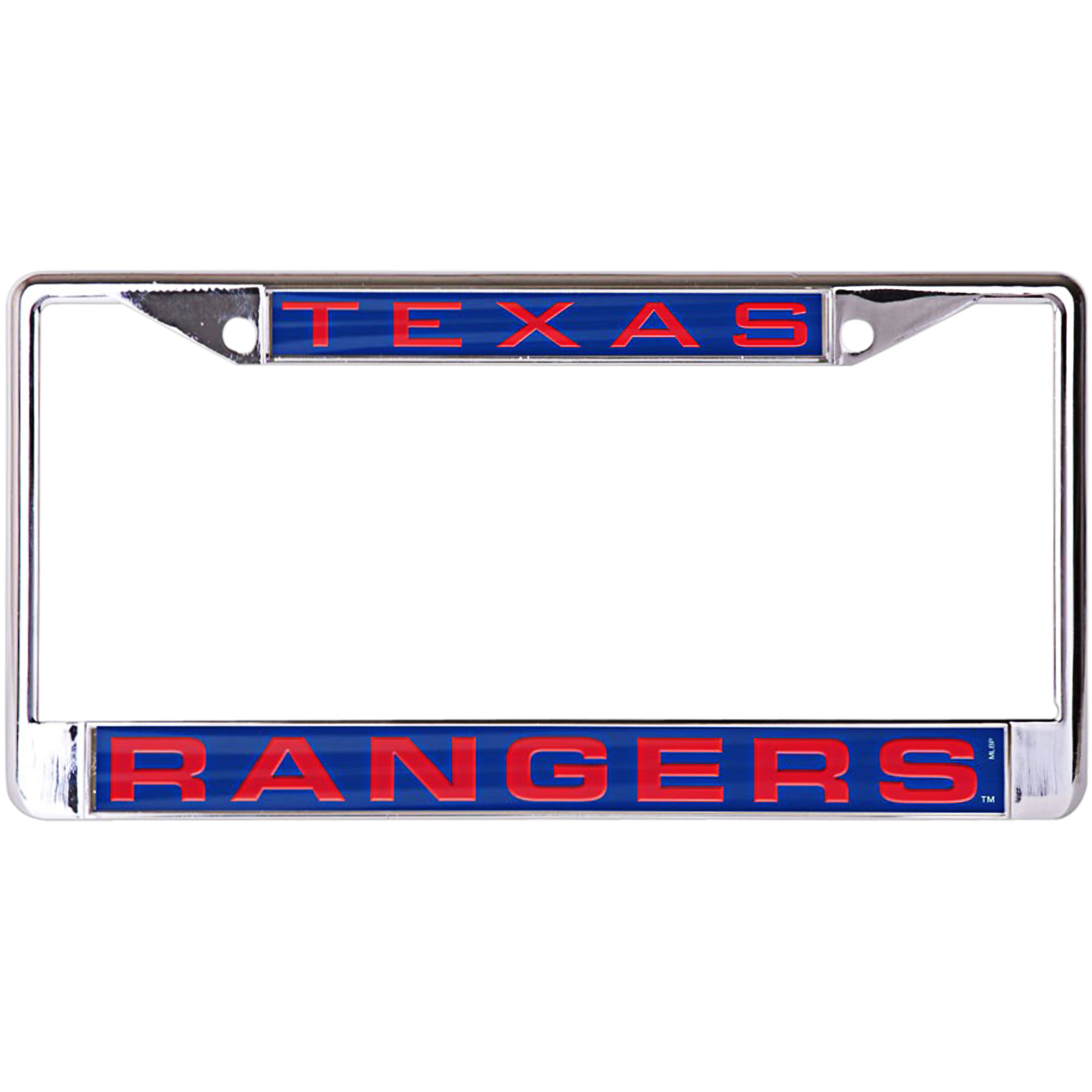 Texas Rangers WinCraft Laser Inlaid Metal License Plate Frame - No Size