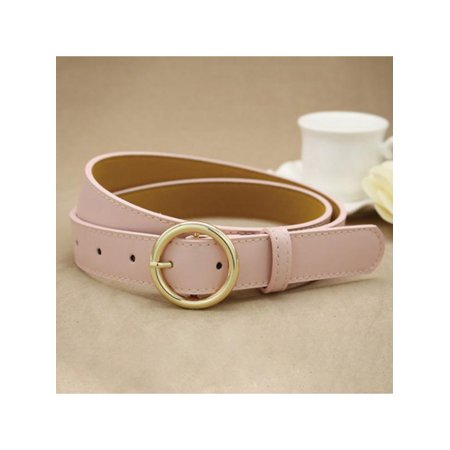 SWEETSMILE Womens Black Leather Belt,Adjustable Fashion PU Leather Metal Buckle Belts For Girls Junior Ladies Clearance Hot](Bat Girl Belt)