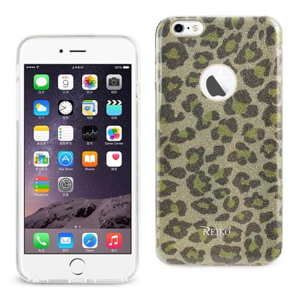 Glitter Leopard - REIKO IPHONE 6 PLUS/ 6S PLUS SHINE GLITTER SHIMMER HYBRID CASE IN LEOPARD GOLD