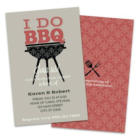 I Do BBQ Rehearsal Dinner Invitation](Bbq Invitations)