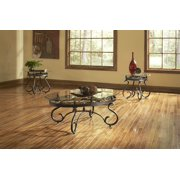 Lola Occasional Table 3 Pc Set w Beveled Glass Tops