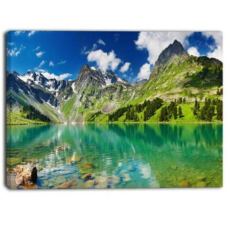 Design Art Designart   Bright Day Mountain Lake  Photography Canvas Art Print