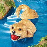 Bigbolo Outdoor Pond Decoration Dog Statue Floater - Pond Decorations