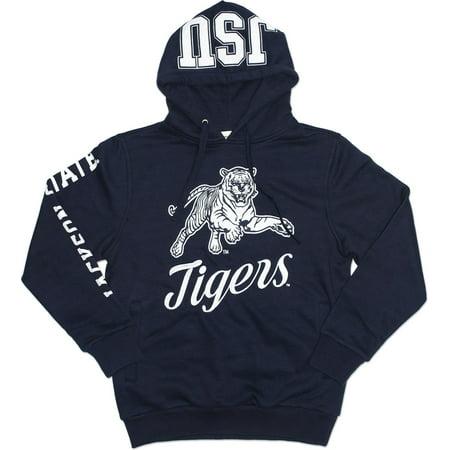 Big Boy Jackson State Tigers S3 Mens Hoodie [Navy Blue - XL] (Tiger Hoodie Sweatshirt)