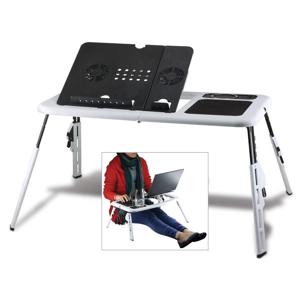 Laptop Table For Bed, Mobile Adjustable Folding Lap Table For Laptop - Plastic