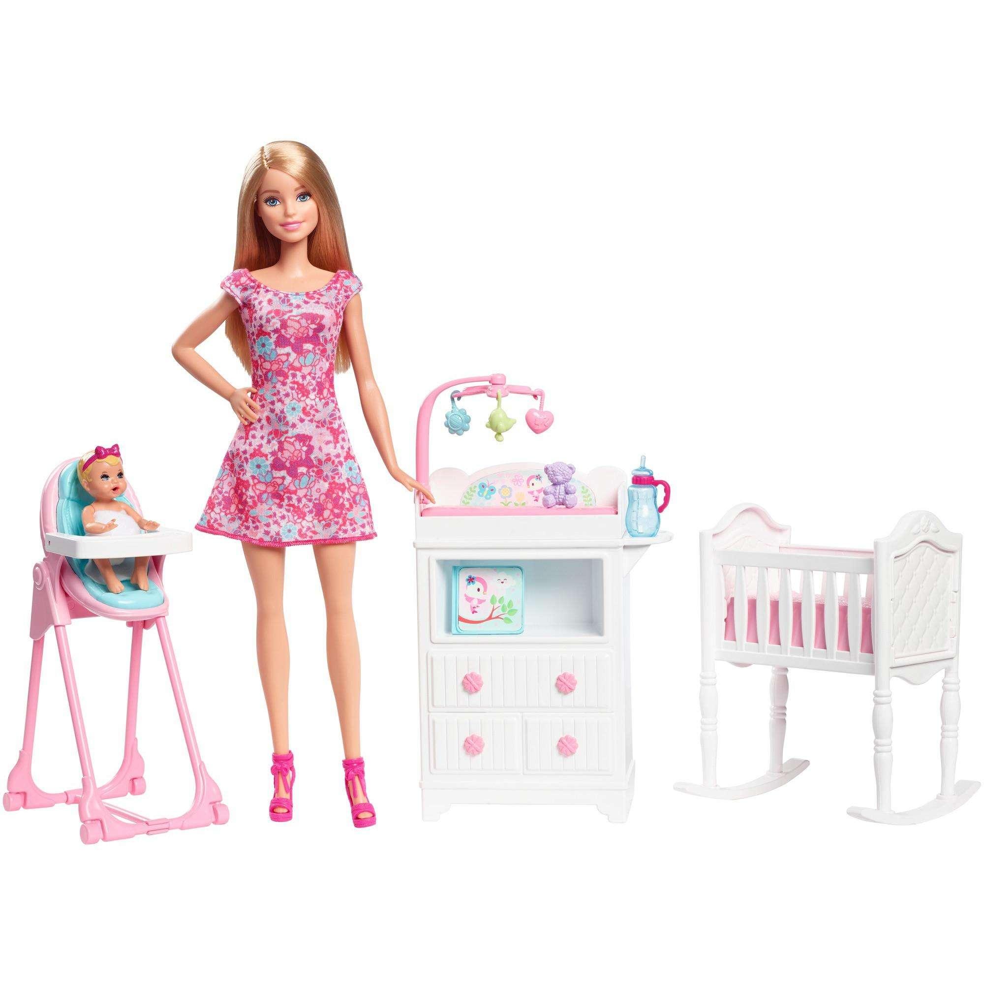 Barbie Learn with Barbie Babysitting Playset - Walmart.com