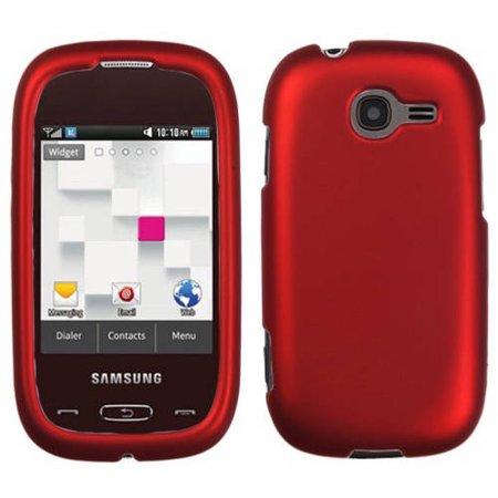 Samsung T289 Gravity Q MyBat Protector Case, Titanium Solid Red (Samsung Gravity Case)