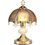 14.25-Inch Antique Bronze Touch Lamp with Floral Theme by OK Lighting OK-609BGA