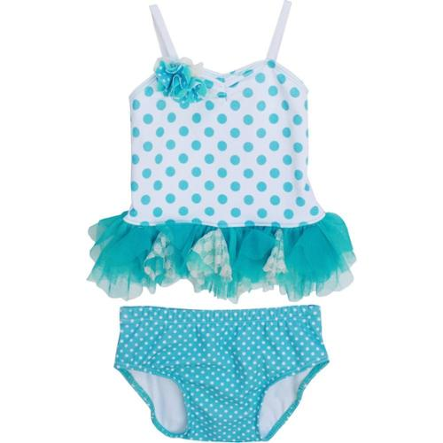 Isobella & Chloe Baby Girls Sky Blue Piper Two Piece Tankini Swimsuit 18M