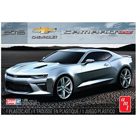 Scale Snap Together Plastic Model (AMT 982 2016 Chevy Camaro SS Snap Kit - Body Molded in Garnet Red 1:25 Scale Plastic Kit)