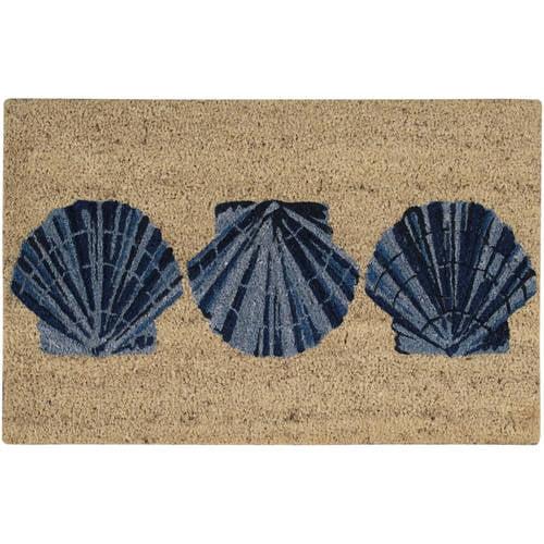 "Waverly Greetings ""Trio Shells"" Blue Doormat by Doormats"