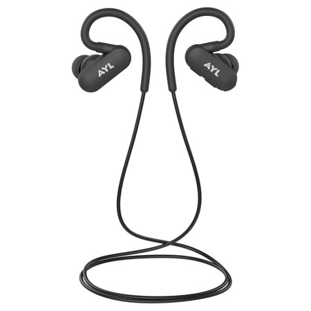 AYL Bluetooth V4.1 Earphones With Over - Ear Hook Lightweight Mini In - Ear Headphones Sweatproof Noise Cancelling Wireless Earbuds With Rechargeable Battery With 6 Hour Playtime For Gym & Run