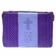 Christian Art Gifts 364158 Bible Cover-John 3 to 16-Large - Purple