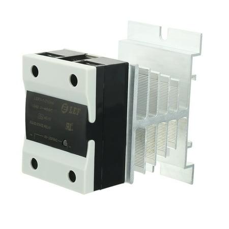 10A AC à AC 90-250V à 24-440V Composé thermique Relais semi + dissipateur chaleur - image 5 de 5
