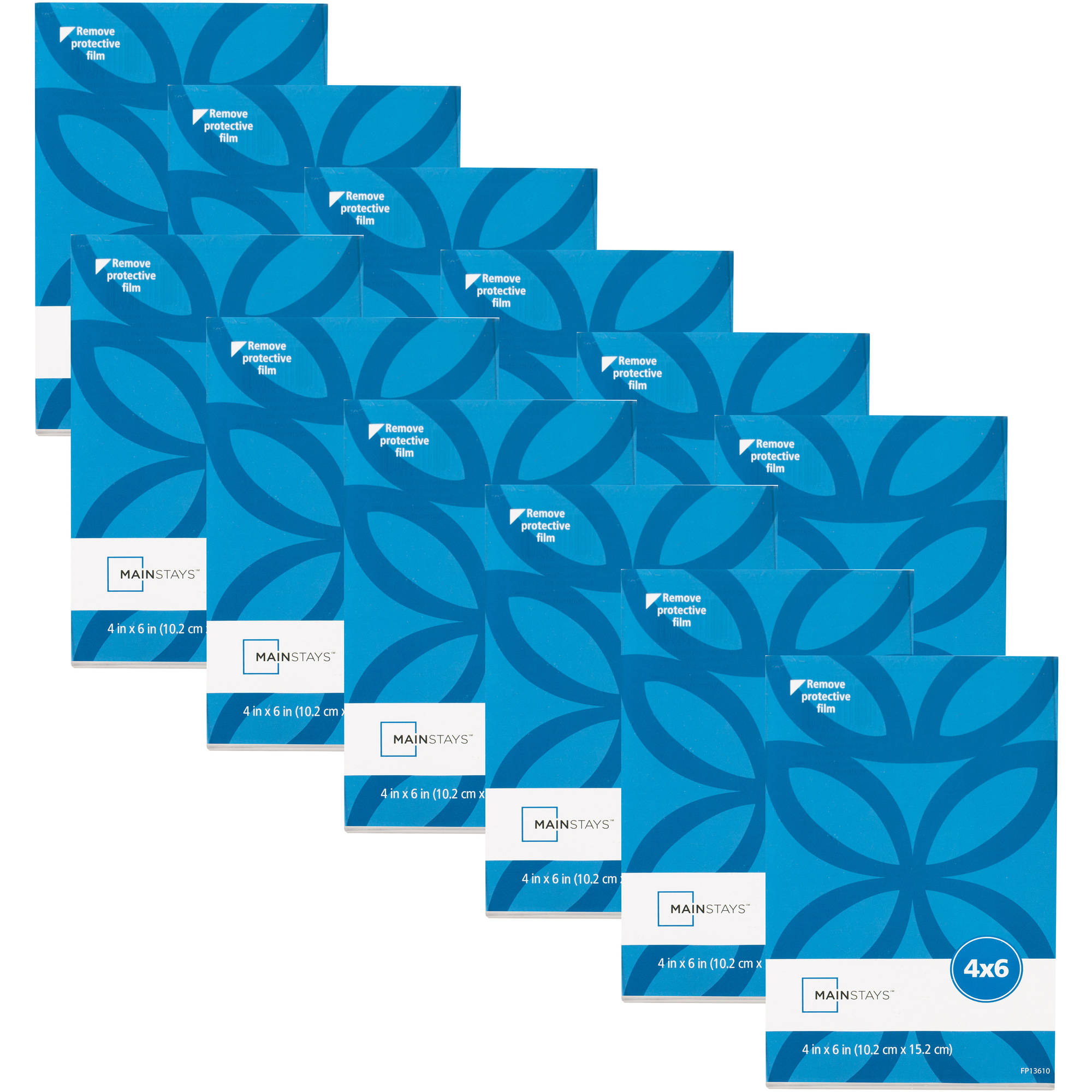 """Mainstays 4"""" x 6"""" Clear Bent L Frame, Set of 12"""