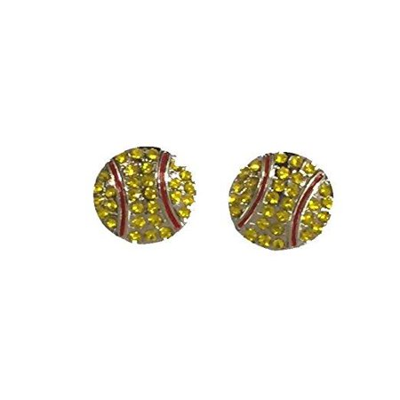 Softball Rhinestone (Softball Rhinestone Earrings -)