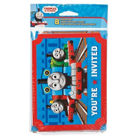 Thomas and Friends Invite and Thank You Combo Pack, 8 Count, Party Supplies](Thomas And Friends Invitations)