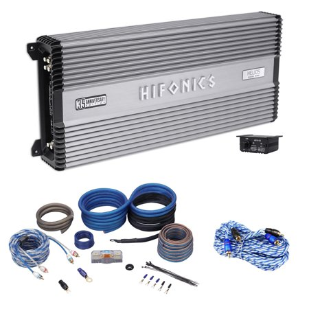 hifonics helios 2400 watt 4 channel 2 ohm car amplifier class a b ofc amp kit. Black Bedroom Furniture Sets. Home Design Ideas