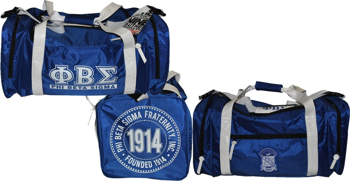 "Phi Beta Sigma Divine 9 Duffle Bag [Royal Blue 23.6"" x 11"" x 11""] by"